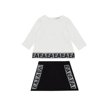 vaatteet Tytöt Kokonaisuus Emporio Armani 6HEV08-3J3PZ-0101 White / Black