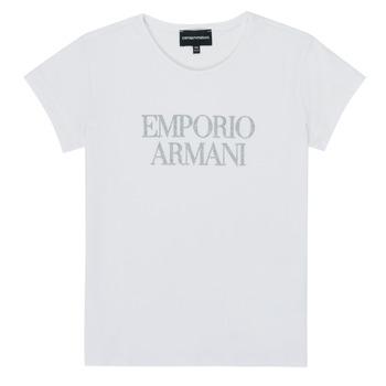 vaatteet Tytöt Lyhythihainen t-paita Emporio Armani 8N3T03-3J08Z-0100 White