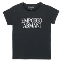 vaatteet Tytöt Lyhythihainen t-paita Emporio Armani 8N3T03-3J08Z-0999 Musta
