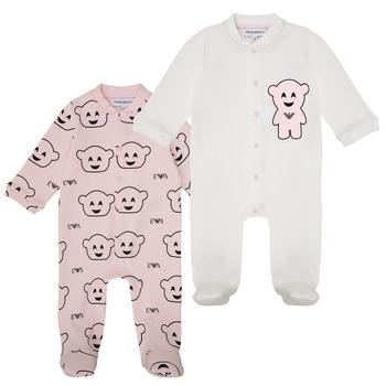 vaatteet Tytöt pyjamat / yöpaidat Emporio Armani 6HHV06-4J3IZ-F308 Vaaleanpunainen