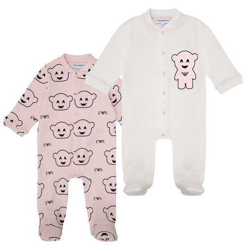 vaatteet Tytöt pyjamat / yöpaidat Emporio Armani 6HHV06-4J3IZ-F308 Pink