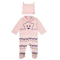 vaatteet Tytöt pyjamat / yöpaidat Emporio Armani 6HHV08-4J3IZ-0355 Vaaleanpunainen