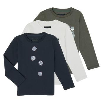 vaatteet Pojat T-paidat pitkillä hihoilla Emporio Armani 6H4D01-4J09Z-0564 Multicolour