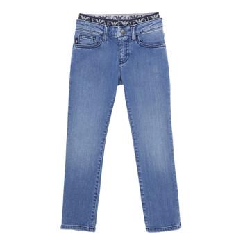 vaatteet Pojat Slim-farkut Emporio Armani 6H4J17-4D29Z-0942 Sininen