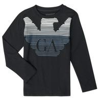 vaatteet Pojat T-paidat pitkillä hihoilla Emporio Armani 6H4T17-1J00Z-0999 Musta