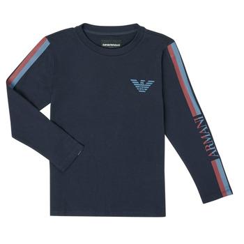 vaatteet Pojat T-paidat pitkillä hihoilla Emporio Armani 6H4TJD-1J00Z-0920 Laivastonsininen