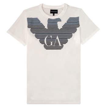 vaatteet Pojat Lyhythihainen t-paita Emporio Armani 6H4TQ7-1J00Z-0101 White