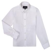 vaatteet Pojat Pitkähihainen paitapusero Emporio Armani 8N4CJ0-1N06Z-0100 White