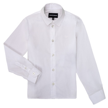 vaatteet Pojat Pitkähihainen paitapusero Emporio Armani 8N4CJ0-1N06Z-0100 Valkoinen