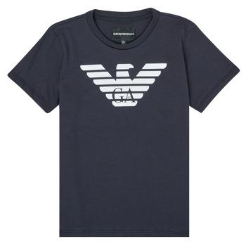 vaatteet Pojat Lyhythihainen t-paita Emporio Armani 8N4T99-1JNQZ-0939 Laivastonsininen