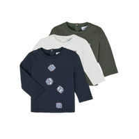 vaatteet Pojat T-paidat pitkillä hihoilla Emporio Armani 6HHD21-4J09Z-0564 Monivärinen