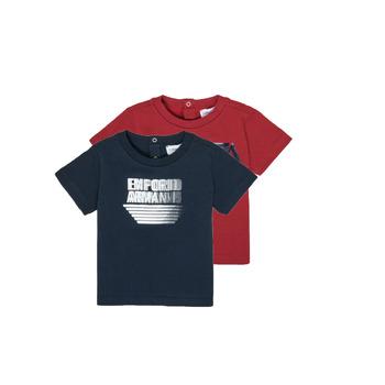 vaatteet Pojat Lyhythihainen t-paita Emporio Armani 6HHD22-4J09Z-0353 Monivärinen