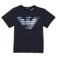 vaatteet Pojat Lyhythihainen t-paita Emporio Armani 6HHTA9-1JDXZ-0920 Laivastonsininen