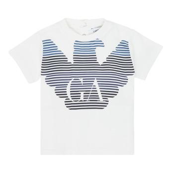 vaatteet Pojat Lyhythihainen t-paita Emporio Armani 6HHTQ7-1J00Z-0101 Valkoinen