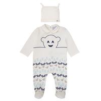 vaatteet Pojat pyjamat / yöpaidat Emporio Armani 6HHV08-4J3IZ-0101 Valkoinen / Sininen