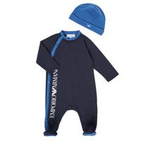 vaatteet Pojat pyjamat / yöpaidat Emporio Armani 6HHV12-4J3CZ-0922 Laivastonsininen