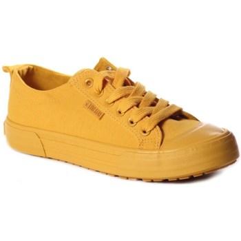 kengät Naiset Matalavartiset tennarit Big Star FF274A086 Keltaiset