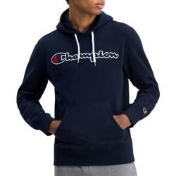 vaatteet Miehet Svetari Champion Hooded Sweatshirt Tummansininen