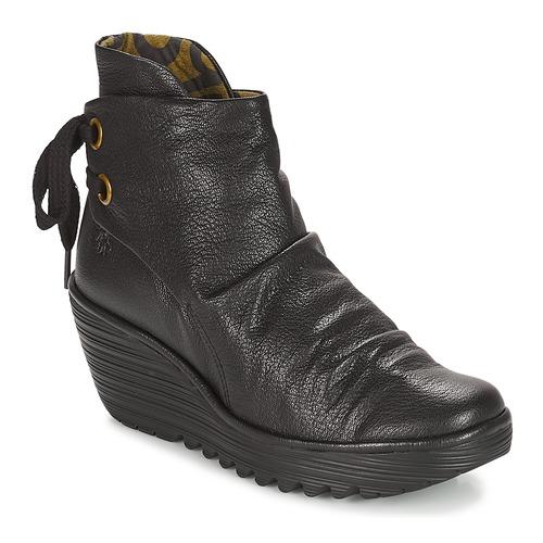 kengät Naiset Nilkkurit Fly London YAMA Black