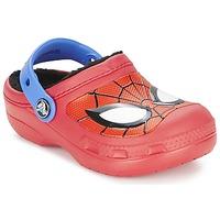 kengät Pojat Puukengät Crocs SPIDERMAN LINED CLOG Punainen