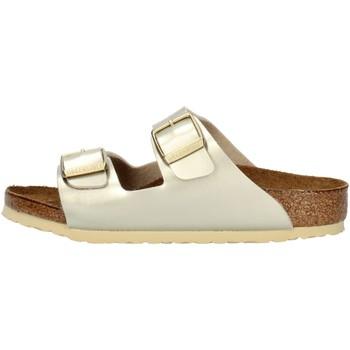 kengät Tytöt Sandaalit Birkenstock 1014841 Platinum
