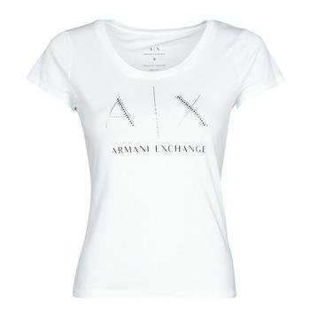 vaatteet Naiset Lyhythihainen t-paita Armani Exchange 8NYT83 Valkoinen