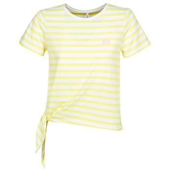 vaatteet Naiset Lyhythihainen t-paita Only ONLBRAVE Keltainen