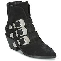 kengät Naiset Bootsit Pepe jeans WESTERN W BUCKLE Musta