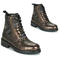 kengät Naiset Bootsit Pepe jeans MELTING TAPE Pronssi