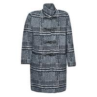 vaatteet Naiset Paksu takki Derhy SAISON Harmaa / Musta