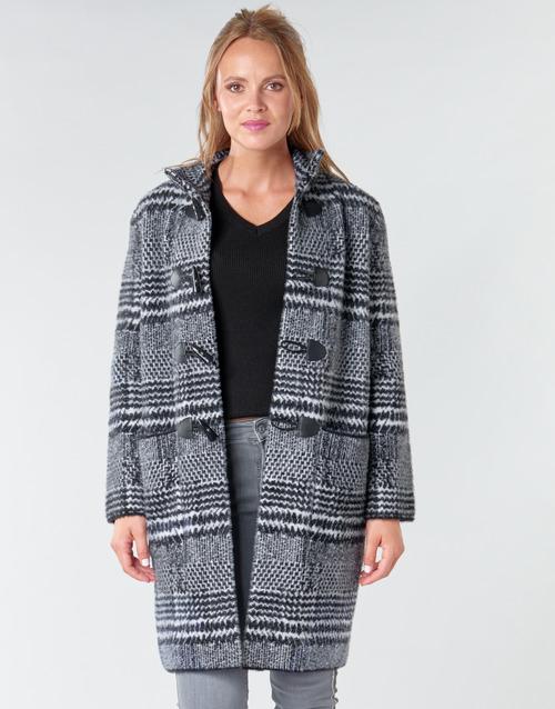 vaatteet Naiset Paksu takki Derhy SAISON Grey / Black