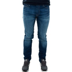 vaatteet Miehet Slim-farkut Jack & Jones 12069489 JJITIM BLUE DENIM JOS919 Azul