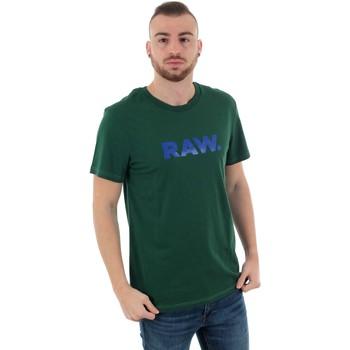 vaatteet Miehet Lyhythihainen t-paita G-Star Raw GRAPHIC 78 R T SS GURIN GREEN Verde