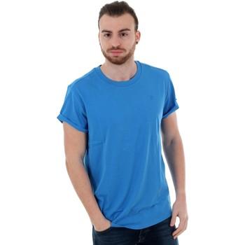 vaatteet Miehet Lyhythihainen t-paita G-Star Raw SHELO R T SS ELECTRIC BLUE Azul