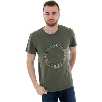 vaatteet Miehet Lyhythihainen t-paita Pepe jeans PM506833 RYTON - 785 DARK KHAKI GREEN Verde