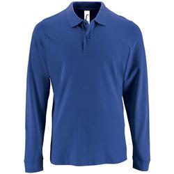 vaatteet Miehet Pitkähihainen poolopaita Sols PERFECT LSL COLORS MEN Azul