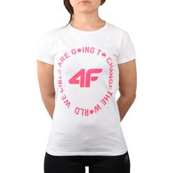 vaatteet Lapset T-paidat & Poolot 4F Girl's T-shirt HJL20-JTSD013A-10S