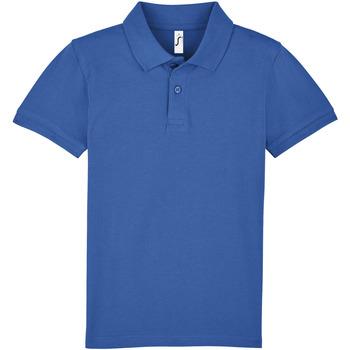 vaatteet Lapset Lyhythihainen poolopaita Sols PERFECT KIDS COLORS Azul