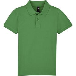 vaatteet Lapset Lyhythihainen poolopaita Sols PERFECT KIDS COLORS Verde