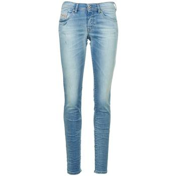 vaatteet Naiset Slim-farkut Diesel FRANCY Blue / CLAIR