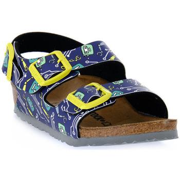kengät Lapset Sandaalit ja avokkaat Birkenstock MILANO ROBOTS BLUE CALZ S Blu