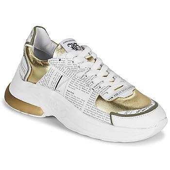kengät Naiset Matalavartiset tennarit John Galliano 3646 White / Kulta