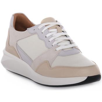 kengät Naiset Juoksukengät / Trail-kengät Clarks RIO RUN Bianco