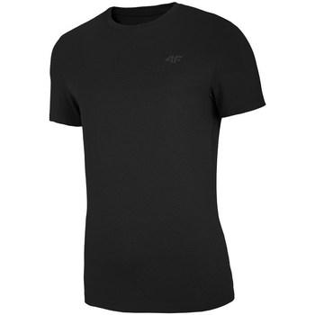 vaatteet Miehet Lyhythihainen t-paita 4F TSM003 Mustat