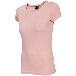 vaatteet Naiset Lyhythihainen t-paita 4F TSD001 Vaaleanpunaiset