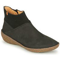 kengät Naiset Bootsit El Naturalista BORAGO Musta