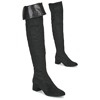 kengät Naiset Ylipolvensaappaat Unisa LUKAS Musta