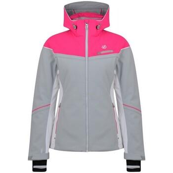 vaatteet Naiset Tuulitakit Dare 2b  Argent Grey/Cyber Pink