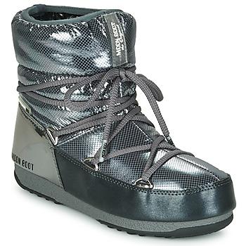 kengät Naiset Talvisaappaat Moon Boot MOON BOOT LOW SAINT MORITZ WP Grey