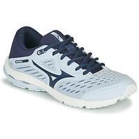 kengät Tytöt Juoksukengät / Trail-kengät Mizuno WAVE RIDER JR Sininen